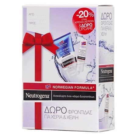Neutrogena Hand Cream Anti-aging Ενυδατική Κρέμα Χεριών κατά των Σκούρων Κηλίδων 50ml + ΔΩΡΟ Stick Χειλιών Θρέψης με Nordic Berry 4.9gr