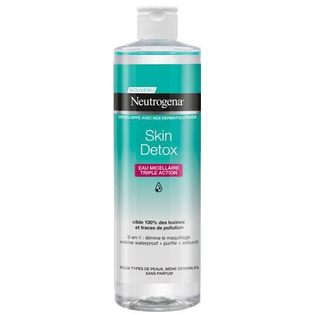 Neutrogena Skin Detox 3 σε 1 Micellar Νερό καθαρισμού 400ml