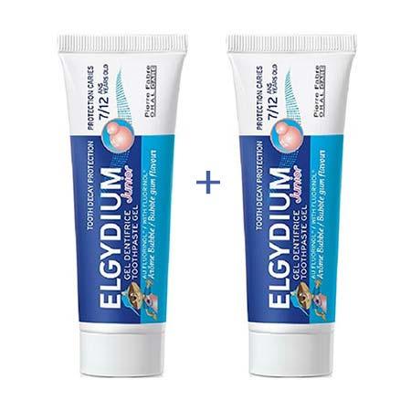 Elgydium 2x Junior Οδοντόπαστα Bubble (7-12 ετών) 50+50ml
