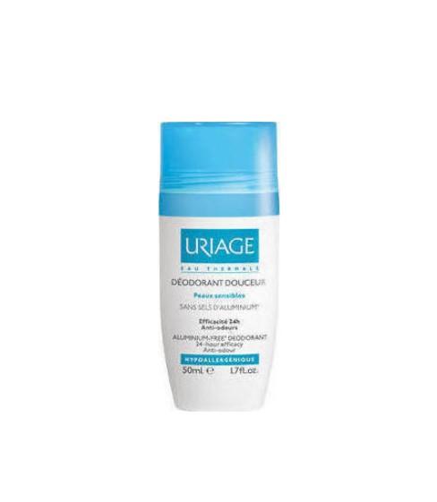 Uriage Deodorant Douceur B, Αποσμητικό Roll-On Χωρίς Ίχνη Αλουμινίου 50ml