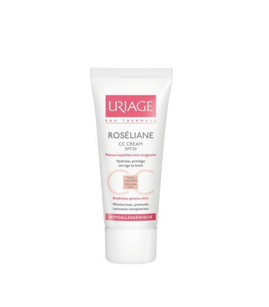 Uriage Roseliane CC Καταπραϋντική Κρέμα Προσώπου Με Χρώμα Spf30 Για Ευαίσθητο Με Τάση Ερυθρότητας Δέρμα 40ml