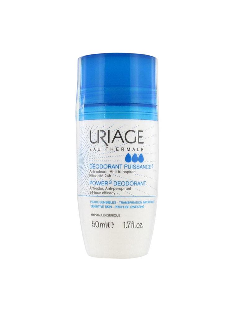 Uriage Deodorant Puissance 3 Υποαλλεργικό Αποσμητικό Roll On, 50ml