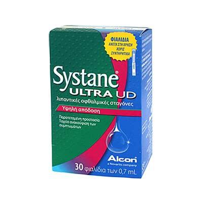Systane Ultra UD 30 x 0.7 ml -Μπορεί να χρησιμοποιηθεί εως και 6 μήνες μετά το άνοιγμα-