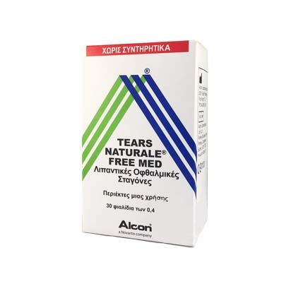 Alcon Tears Naturale FREE Med Οφθαλμικές Σταγόνες σε περιέκτες μιας Χρήσης 30 x 0.4ml