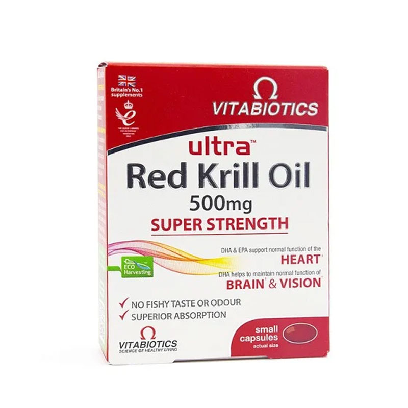 Vitabiotics Ultra Krill Oil 500mg 30 κάψουλες