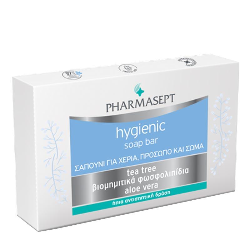 Pharmasept Hygienic Soap Bar Σαπούνι για Χέρια Πρόσωπο & Σώμα 100g.