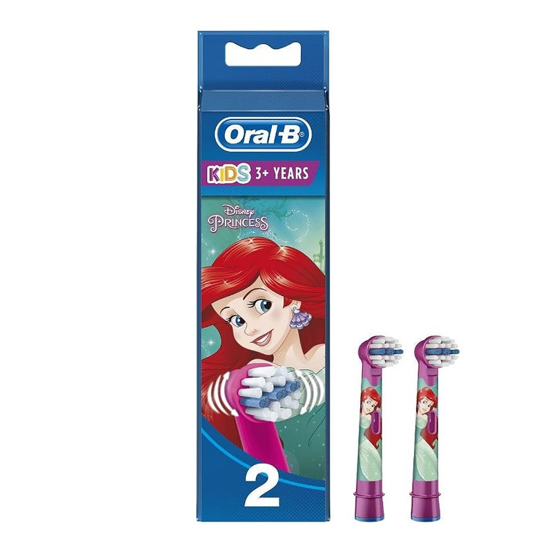 Oral-B Stages Kids 3+ Power Πριγκίπισσες (2τμχ) - Ανταλλακτικά Ηλεκτρικής Οδοντόβουρτσας για παιδιά