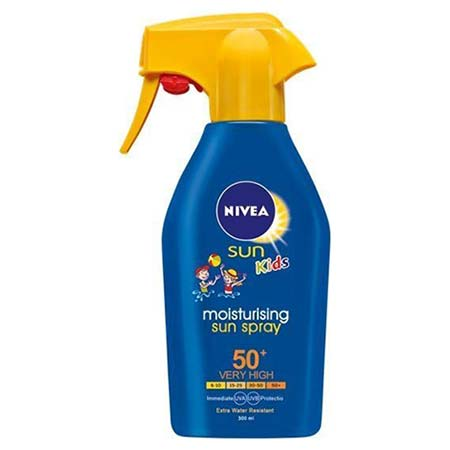 Nivea Kids Moisturising Trigger Sun Spray Παιδικό Αντηλιακό/Ενυδατικό Σπρέι SPF50+, 300ml