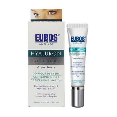 Eubos Anti Age Hyaluron Eye Contour Creme Serum, 15ml