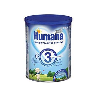 Humana Optimum 3 ρόφημα γάλακτος σε σκόνη 12+, 350gr