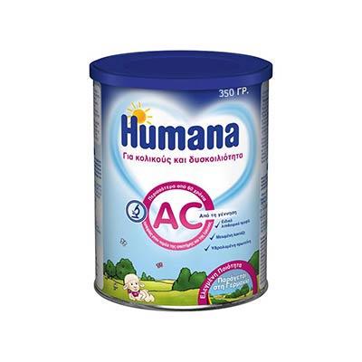 Humana AC διαιτητική τροφή από τη γέννηση, για κολικούς και δυσκοιλιότητα 350gr