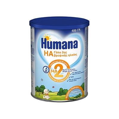 Humana HA 2, Υποαλλεργικό γάλα Δεύτερης βρεφικής ηλικίας (από 6 μηνών), 400gr