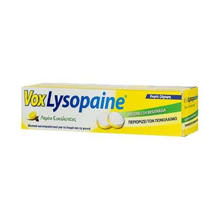 Vox Lysopaine με Γεύση Λεμόνι-Ευκάλυπτος 18tabs