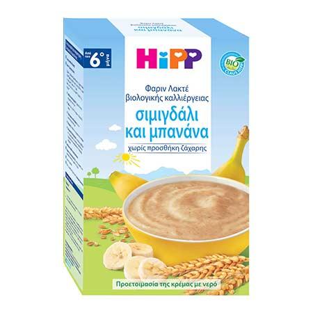 Hipp Φαρίν Λακτέ Σιμιγδάλι και Μπανάνα (Καληνύχτα) 500gr