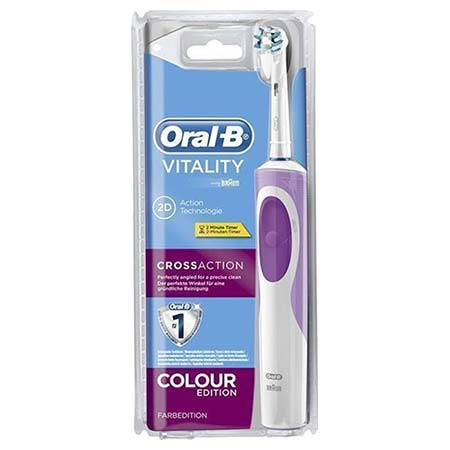 Oral-B Vitality Cross Action Colour Edition Pink Ηλεκτρική Οδοντόβουρτσα