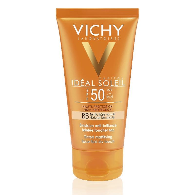 Vichy Ideal Soleil Αντηλιακή Κρέμα Προσώπου Για Ματ Αποτέλεσμα ΜΕ ΧΡΩΜΑ SPF50 50ml