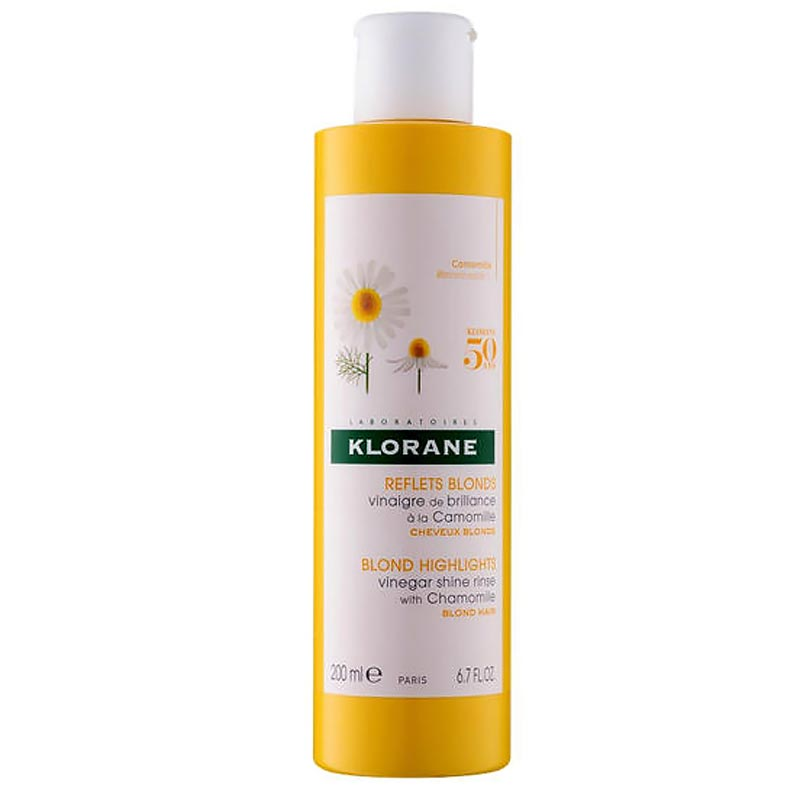 Klorane Διάλυμα Ξυδιού με Χαμομήλι για Λάμψη Χρώματος και για Λαμπερές & Ξανθές Ανταύγειες 200ml