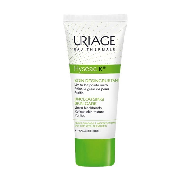 Uriage Hyseac K18, Σμηγματορυθμιστική Κρέμα που Καθαρίζει & Ενυδατώνει, 40ml
