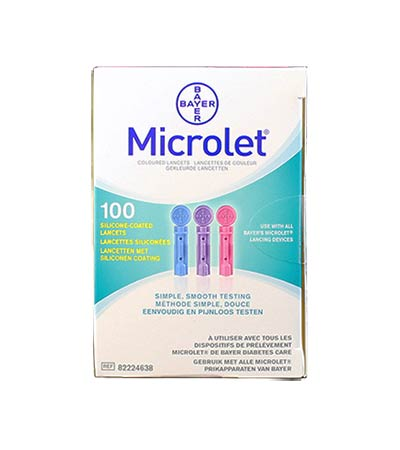 Microlet Σκαρφιστήρες έγχρωμοι 100τεμ.