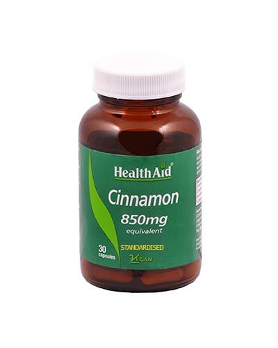 Health Aid Cinnamon 850mg 30caps