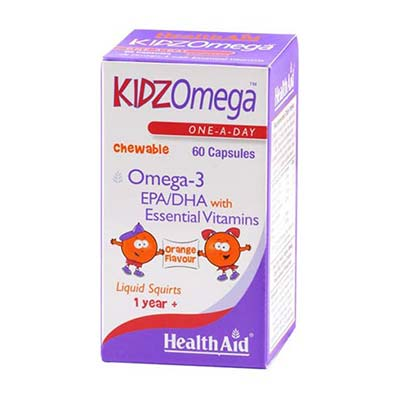 Health Aid KIDZ Omega 3 Chewable 60caps