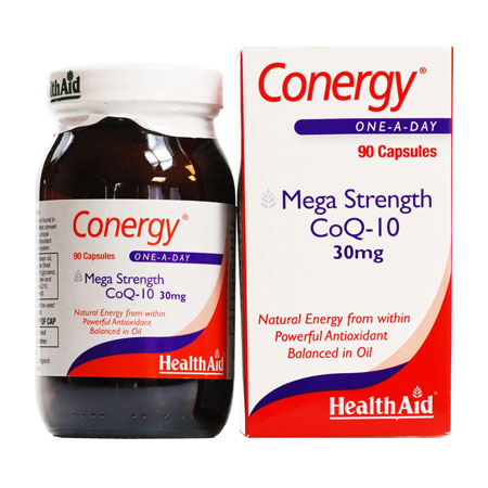 Health Aid Conergy CoQ-10 30mg 90caps
