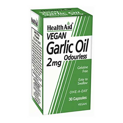 Health Aid Garlic Oil Odourless 2mg 30caps