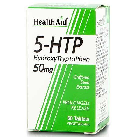 Health Aid 5-HTP Φυτικό Προϊόν Φασολιού 50mg 60 tabs