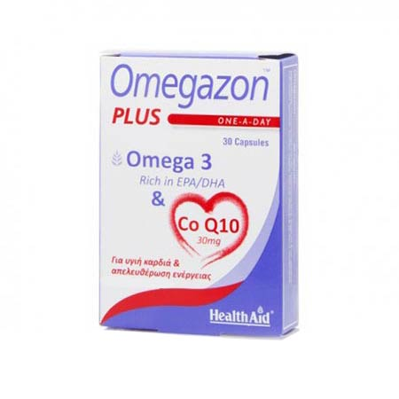 Health Aid Omegazon Plus Omega3 & CoQ10, 30Caps