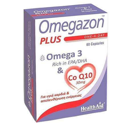 Health Aid Omegazon Plus Omega 3 & CoQ10 60Caps
