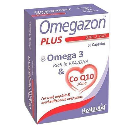 Health Aid Omegazon Plus Omega 3 & CoQ10  60Caps