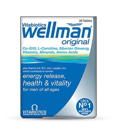 Vitabiotics Wellman original, 30 tabs