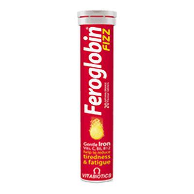 Vitabiotics Feroglobin Fizz - Γεύση Πορτοκάλι 20 αναβράζοντα δισκία