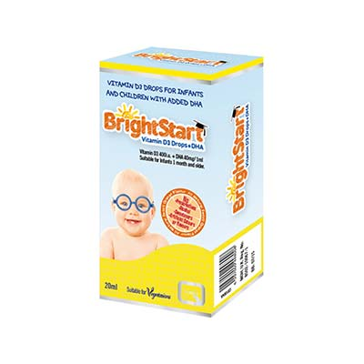 Quest Bright Start Vitamin D3 Drops + DHA 20ml