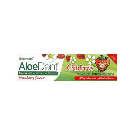 Optima Aloe Dent Strawberry Childrens Toothpaste, 50ml