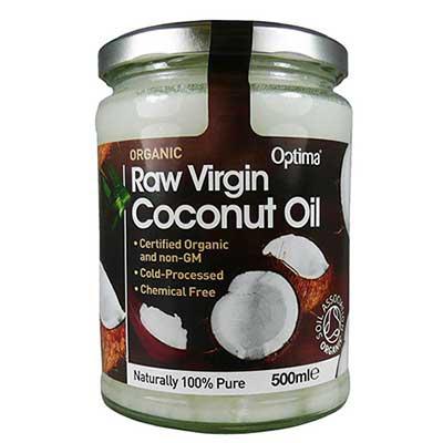 Optima Organic Raw Virgin Coconut Oil 500ml