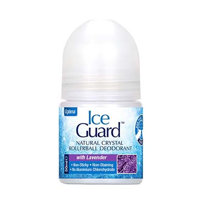 Optima Ice Guard Natural Crystal Rollerball Deodorant -  With Lavender 50ml