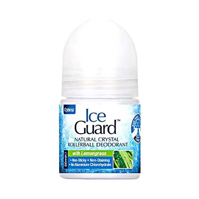 Optima Ice Guard Natural Crystal Rollerball Deodorant -  With Lemongrass 50ml