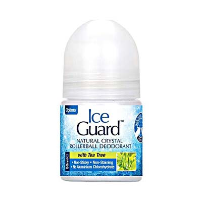 Optima Ice Guard Natural Crystal Rollerball Deodorant -  With Tea Tree 50ml