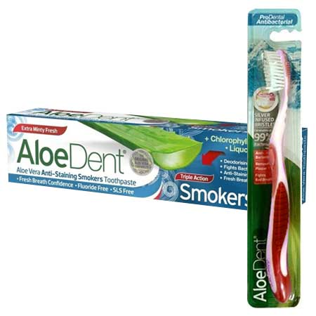 Optima AloeDent Triple Action Smokers Toothpaste Οδοντόκρεμα κατά των Λεκέδων από το Κάπνισμα 100ml