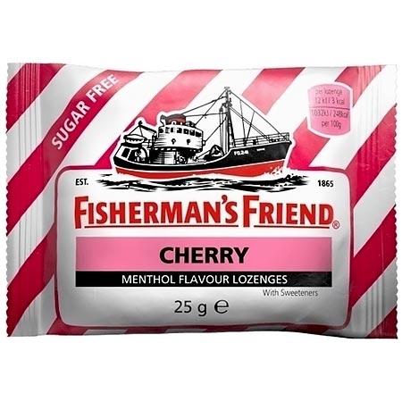 Fishermans Friend Cherry No Sugar 25gr Καραμέλες για το Λαιμό Κεράσι Χωρίς Ζάχαρη