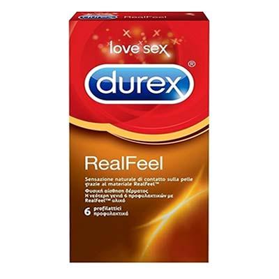Durex Προφυλακτικά Real Feel 6 τμχ