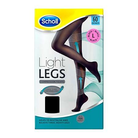 Scholl Light Legs Καλσόν Διαβαθμισμένης Συμπίεσης 60Den Μαύρο -L-