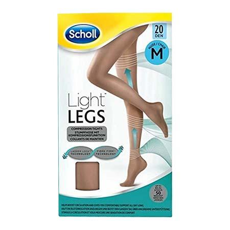 Scholl Light Legs Καλσόν Διαβαθμισμένης Συμπίεσης 20Den Μπέζ -M-