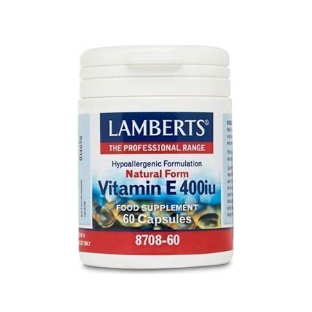 Lamberts Vitamin E 400iu Natural Form 60 caps