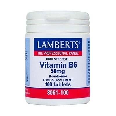 Lamberts Β6 50mg Pyridoxine 100 tabs