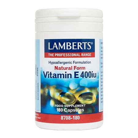 Lamberts Vitamin E 400iu Natural Form 180 caps