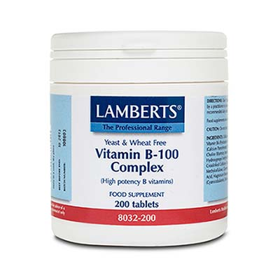 Lamberts Vitamin B-100 Complex 200tabs