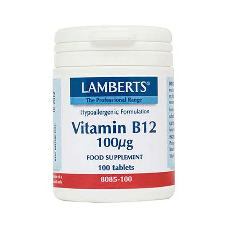 Lamberts Vitamin B-12 100mcg 100 tabs