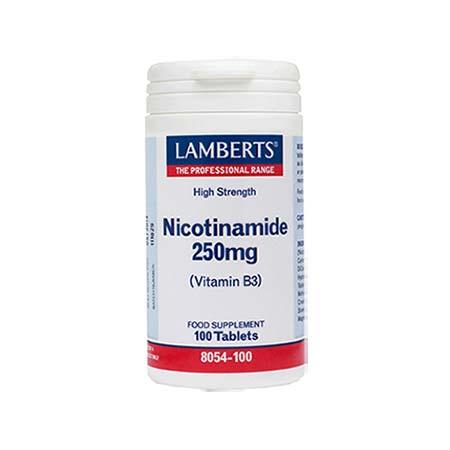 Lamberts Nicotinamide 250mg 100 tabs